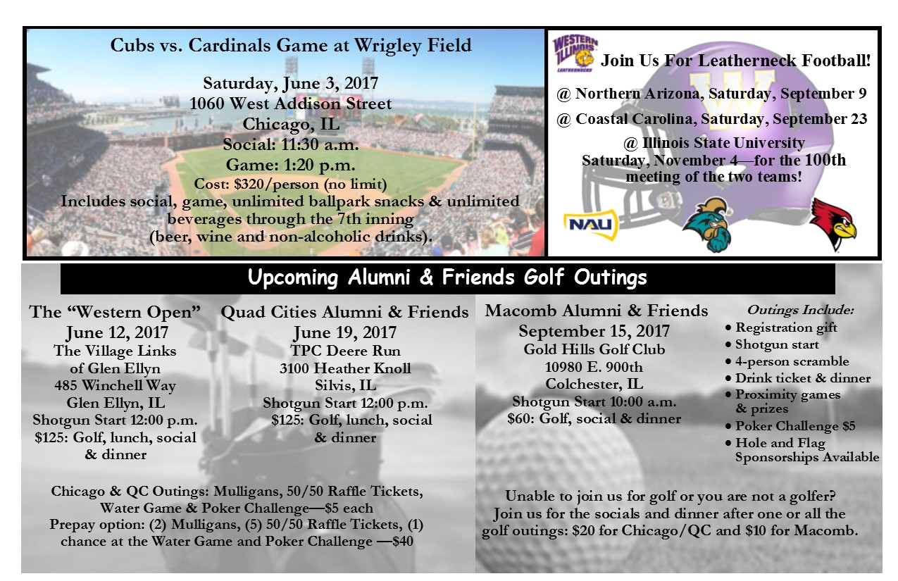 Summer and Fall 2017 Alumni Events