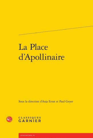 La Place d Apollinaire couverture