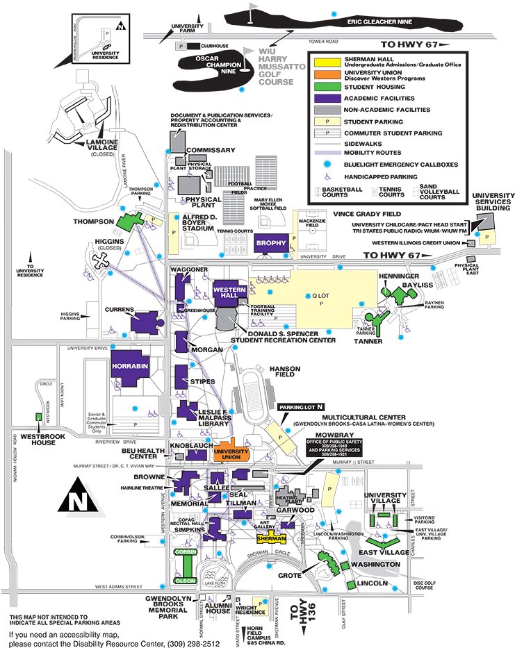 Campus Map  Web Version  About Western  Western Illinois University