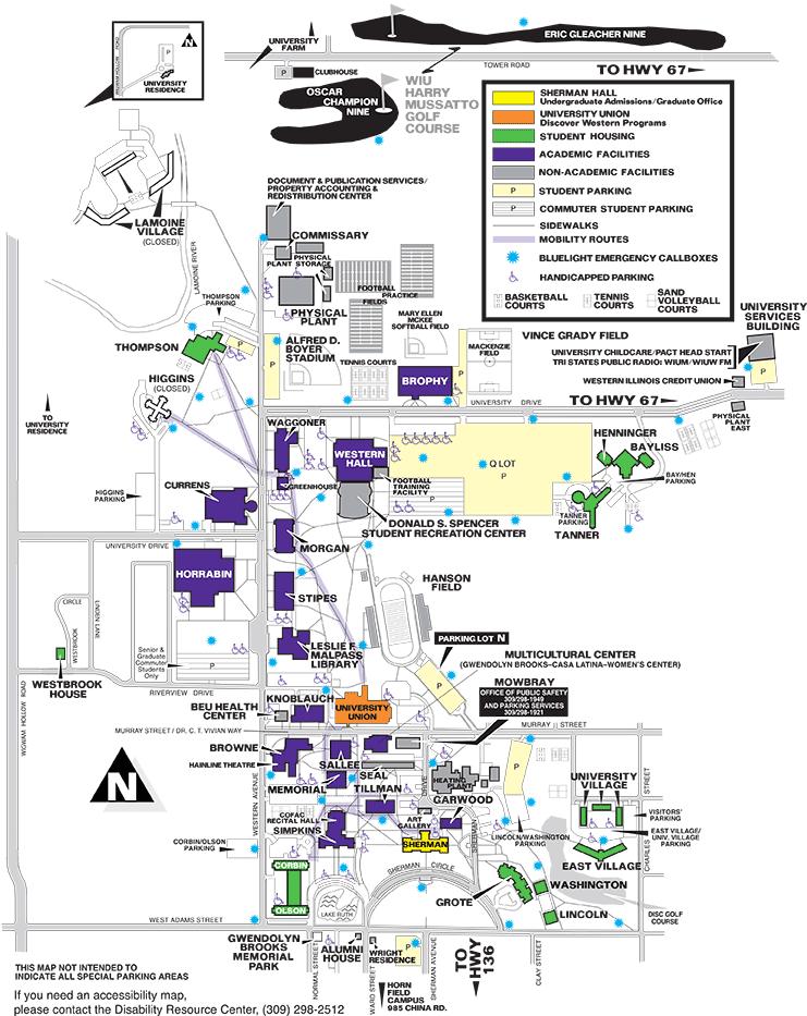 Campus Map Web Version About Western Western Illinois University - Map illinois