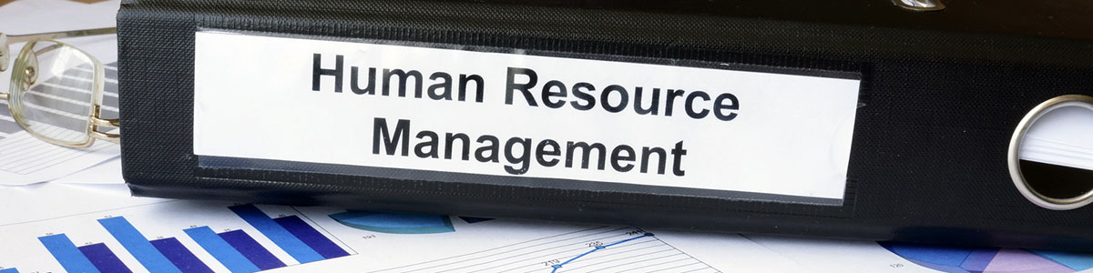 human resource management written on a binder