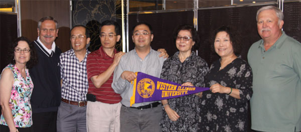 WIU grads met for a dinner in downtown Taipei, Taiwan