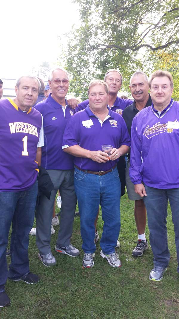 TKE fraters at WIU vs. Northwestern Game