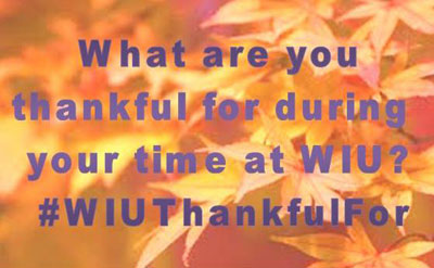WIU Alumni Give Thanks