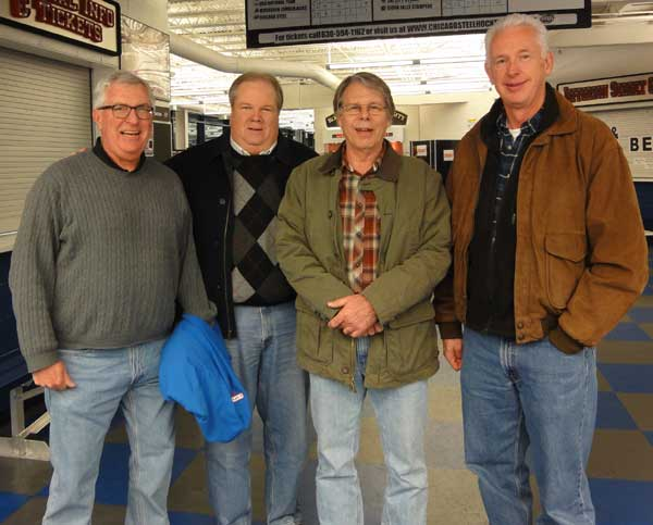 Lynn Fulton '73, Mike Kunze '73, Duane Grahovec  and Bob O'Toole '73 '74
