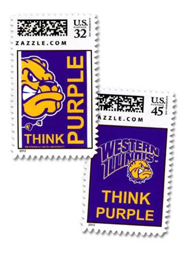 Think Purple Postage Stamps