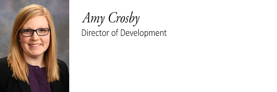 Amy Crosby, Director of Development.