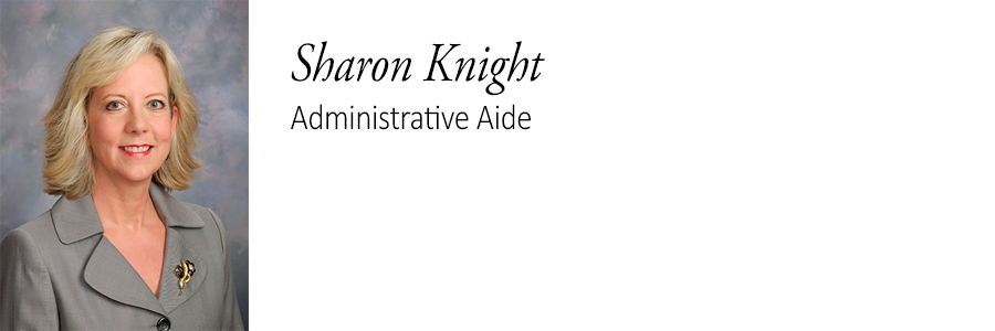 Sharon Knight. Administrative Aide.
