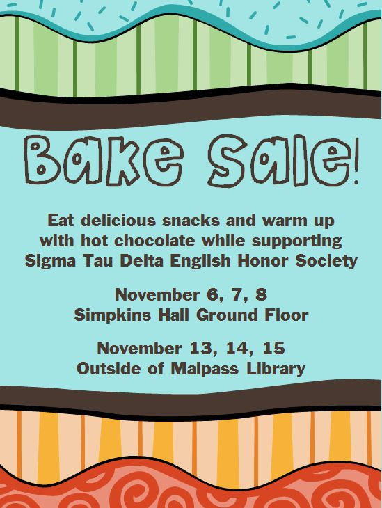 English Dept. Bake Sale