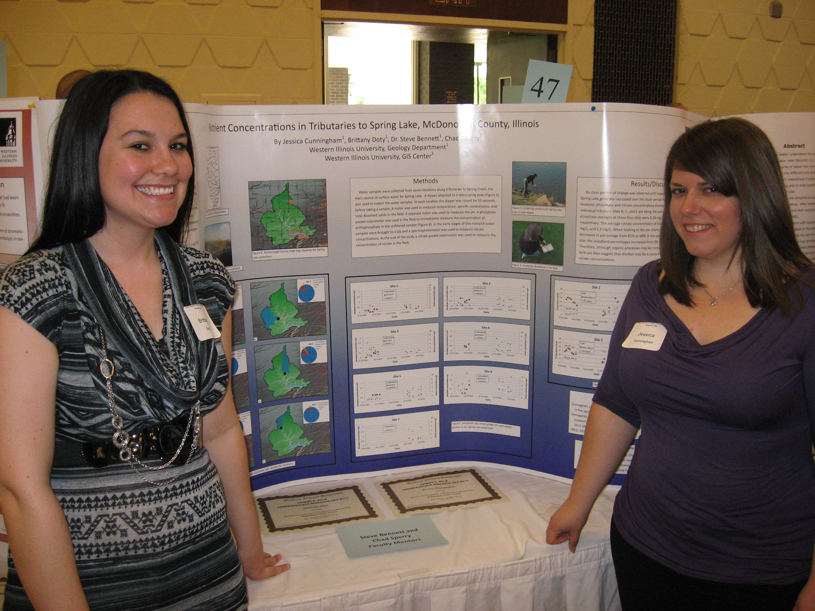 Brittany Doty, Jessica Cunningham and poster