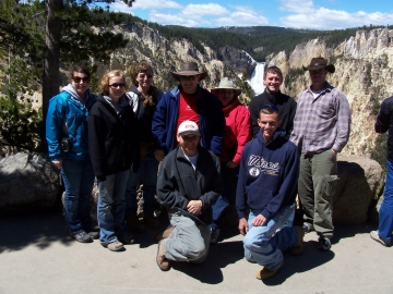 Students at Yellowstone 2008