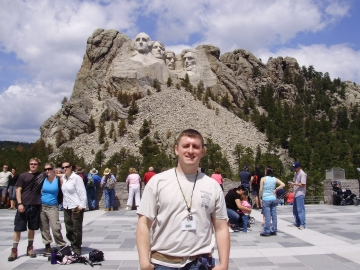 student at Mt. Rushmore