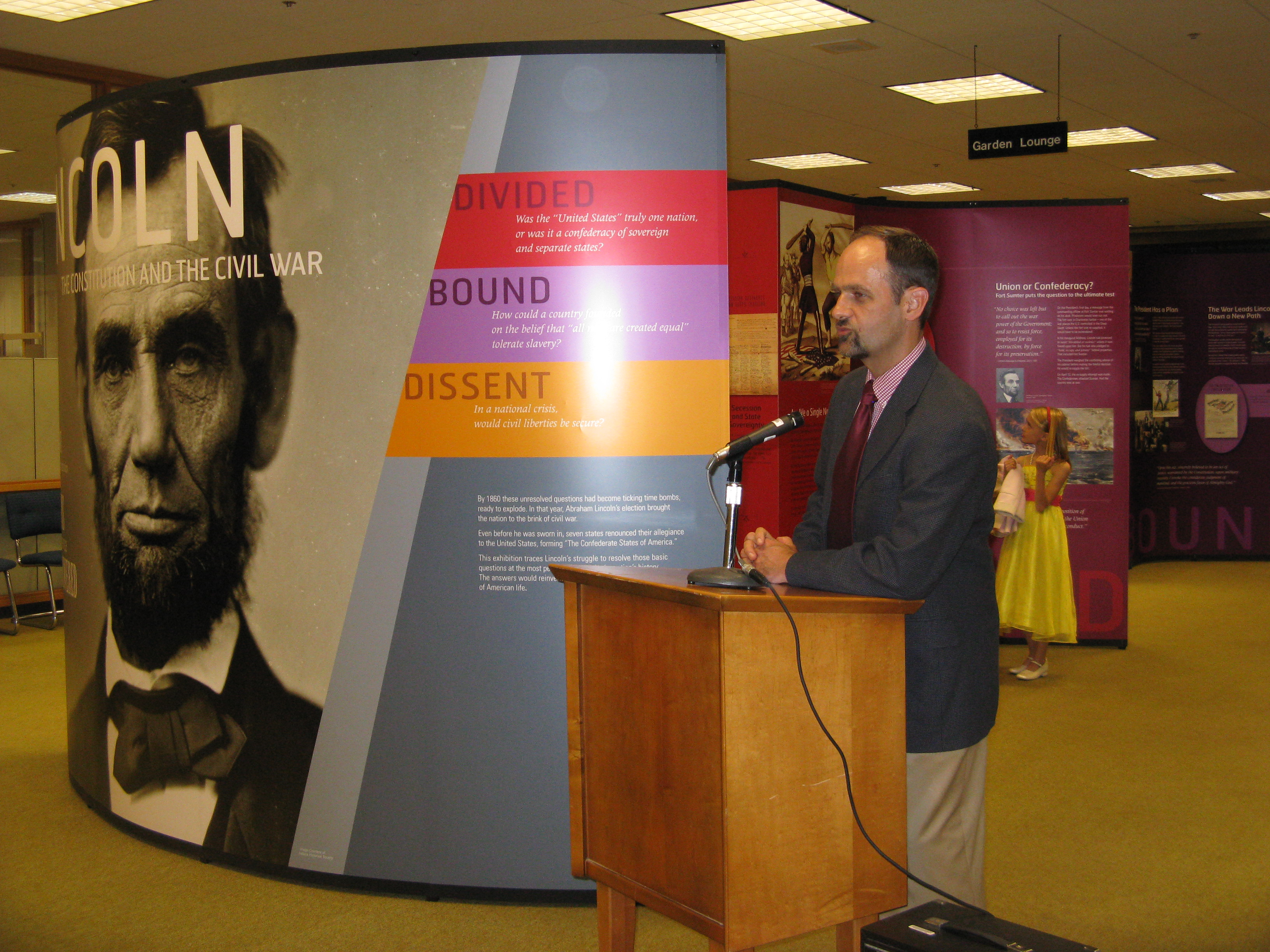 Dr. Roberts at Lincoln Exhibit Reception