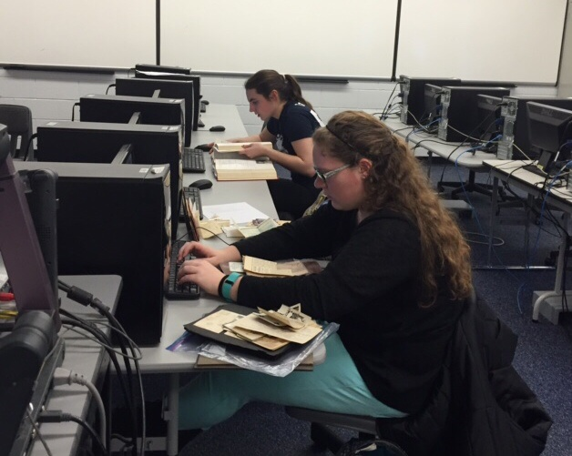 Students research their family history in Prof. Jelatis' Genealogy Course