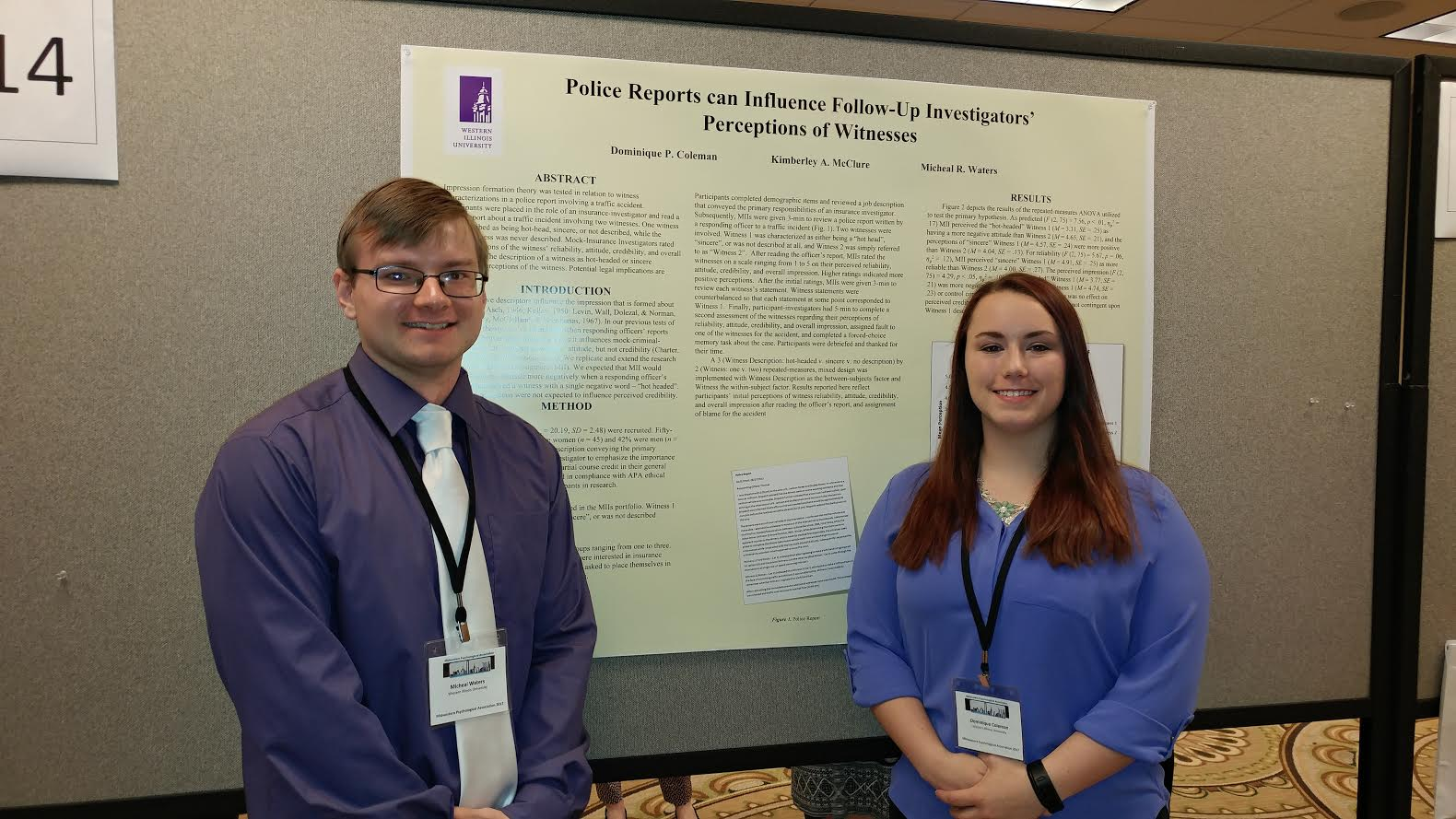Michael Waters and Domi Coleman at the Midwestern Psychological Association Conference (2017).