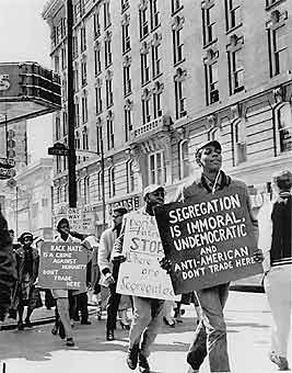 Civil Rights Protest Picket Line.