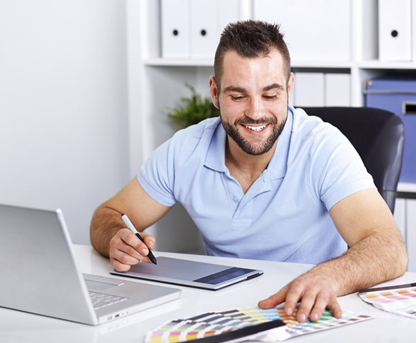 designer working at a computer