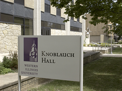 Knoblauch Hall sign