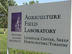 Agriculture Field Laboratory Sign