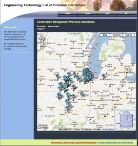 Past Internship Locator Website Graphic