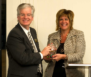 Executive in Residence Carol Koepke and CBT Associate Dean John Drea