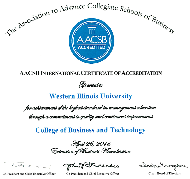 AACSB Certificate
