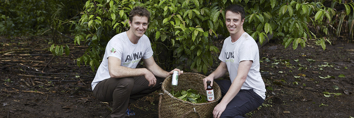 Tyler Gage and Dan MacCombie, co-founders and co-ceos of runa tea