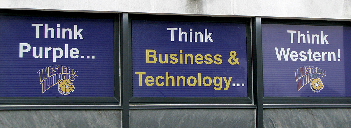 think purple think college of business and technology think western