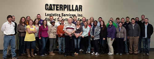 SCM students and faculty at Caterpillar Logistics