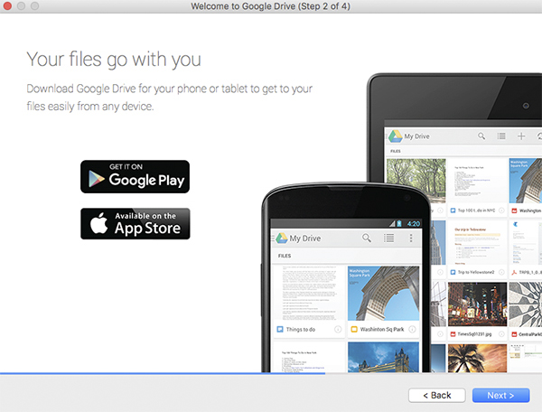 Your files go with you