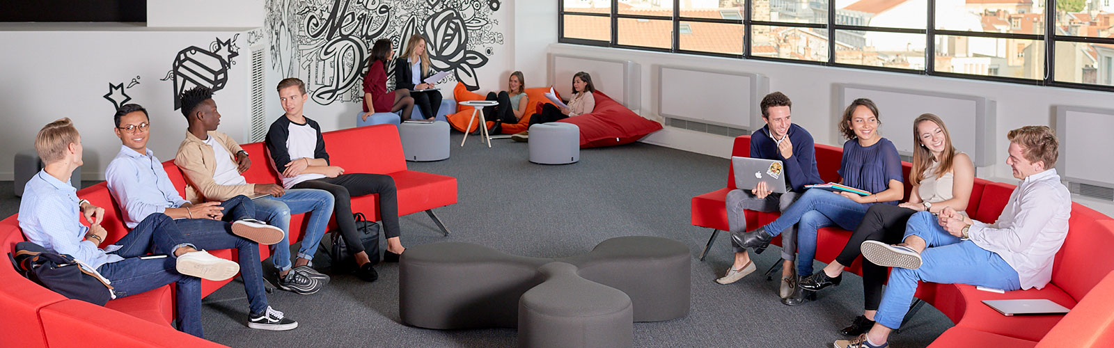 INSEEC student lounge, Lyon France