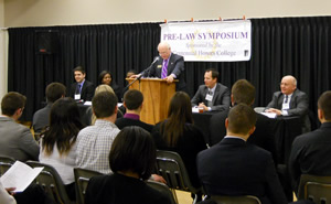 Rick Hardy and Panel at Pre-Law Symposium