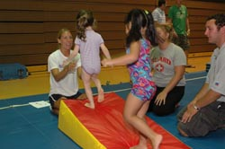 Picture of children learning tumbling.