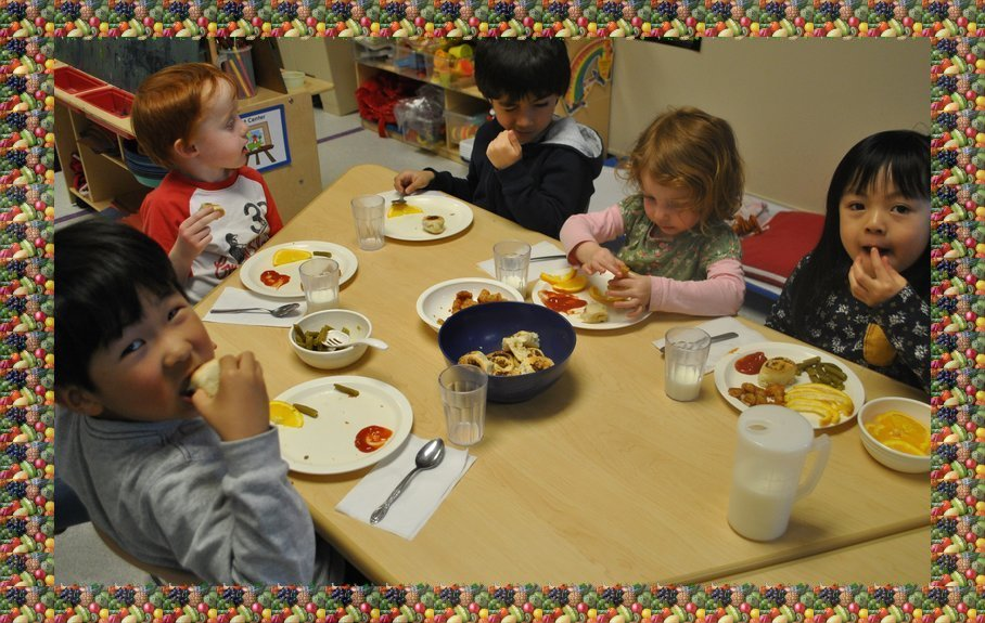 Preschool Lunch Table Throughout Preschool Kids Eating Food And Snack Menu Infant Preschool Center Western Illinois