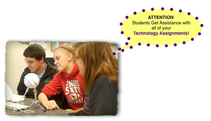 Get help with Technology Assignments in the IMM Lab!