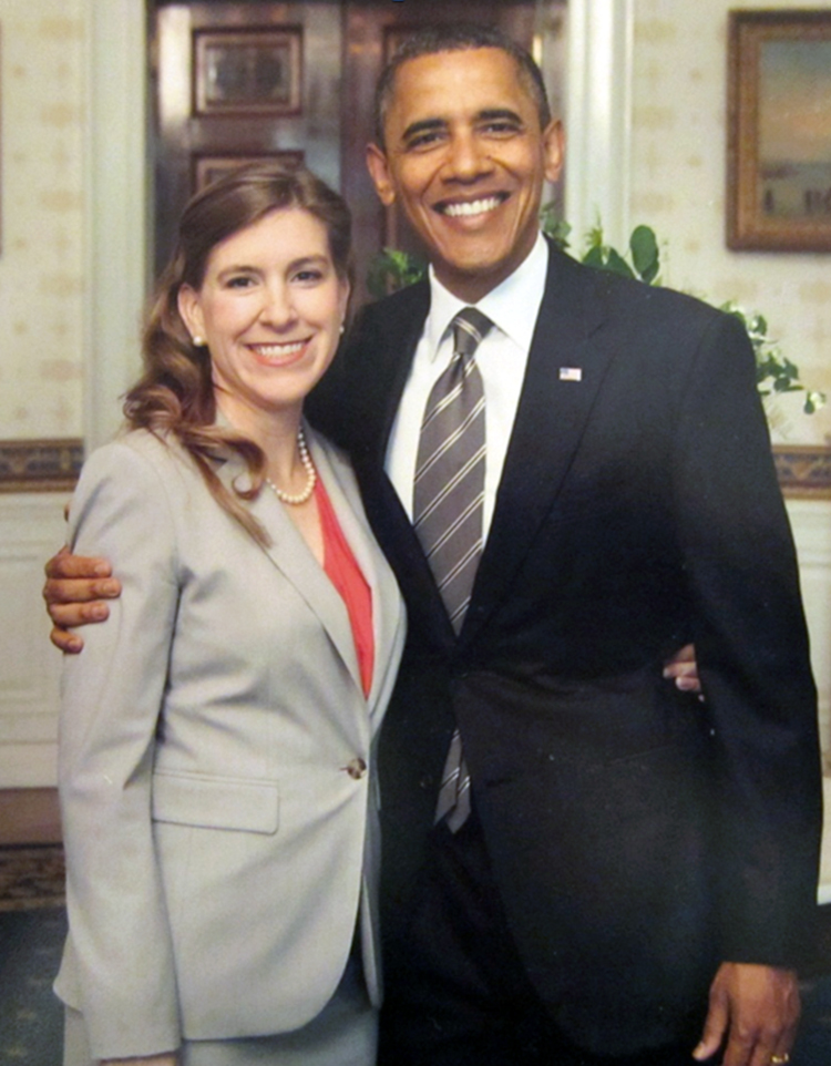 Angela Barker Wilson and US President