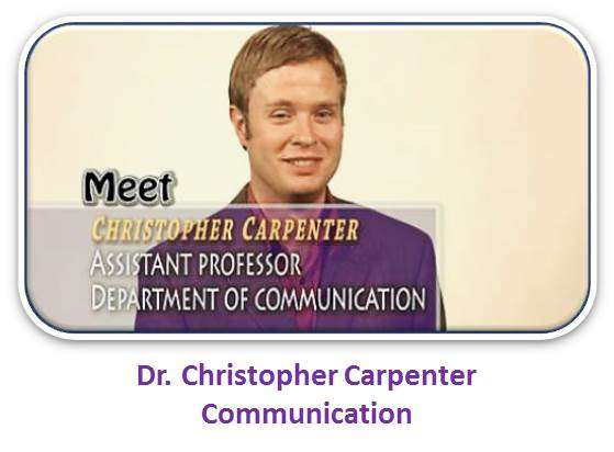 Dr. Christopher Carpenter, Communication