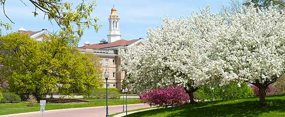 Sherman Hall in Spring