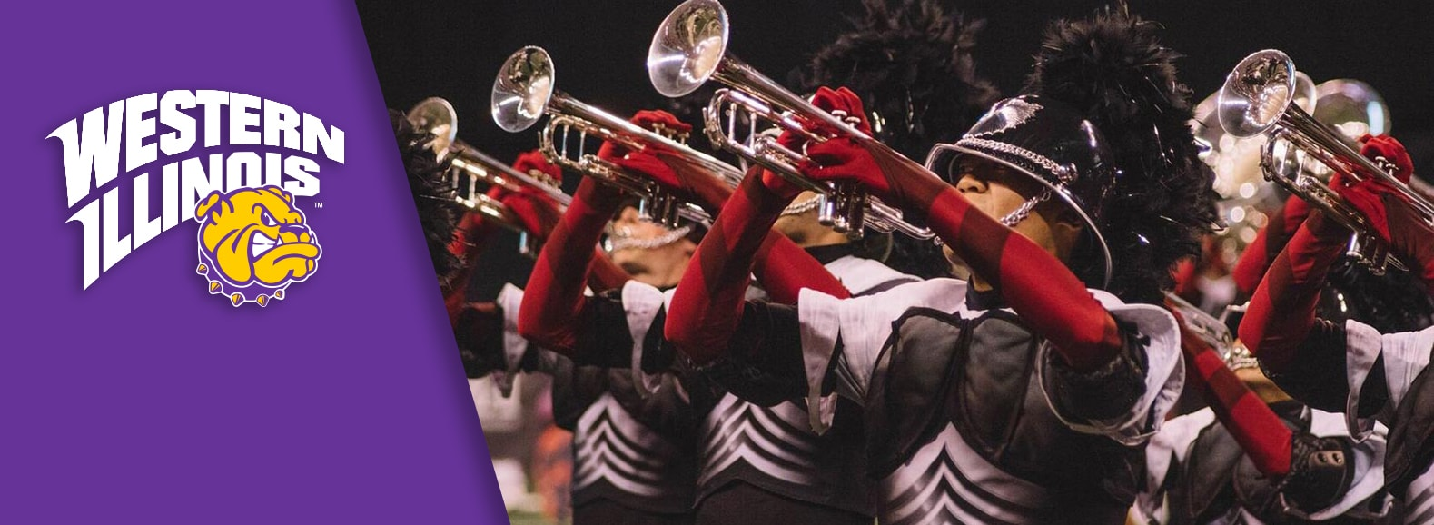 A #WIU welcome to the World Champion Phantom Regiment Drum & Bugle Corps!