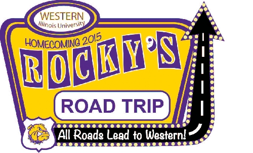 Western Illinois University alumni and friends... Mark your calendars now for Oct. 2-3, 2015, and plan a road trip to Macomb to take part in WIU's annual Homecoming celebration. And coincidentally, the 2015 Homecoming theme is ''Rocky's Road Trip: All Roads Lead to Western,'' so no matter where Western's alumni and friends land after their time in Macomb, they can always find a way back.