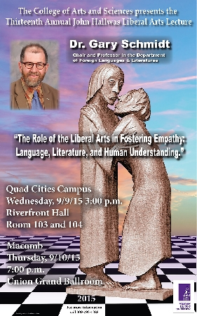 Schmidt to Deliver Hallwas Lecture Sept. 9-10