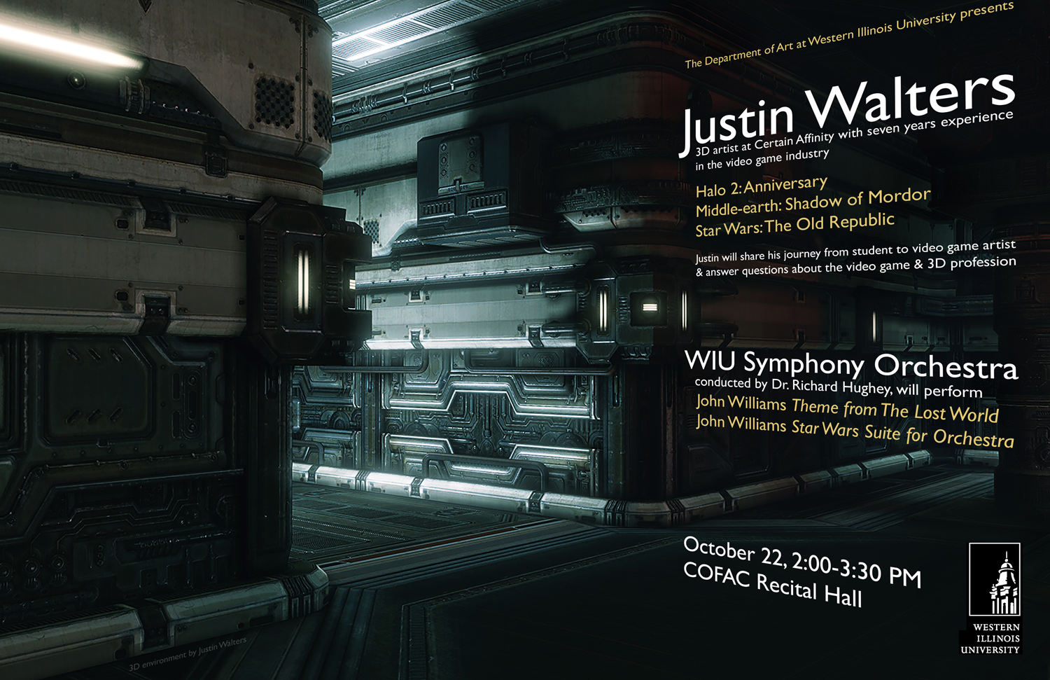 WIU Department of Art presents 3-D artist Justin Walters and