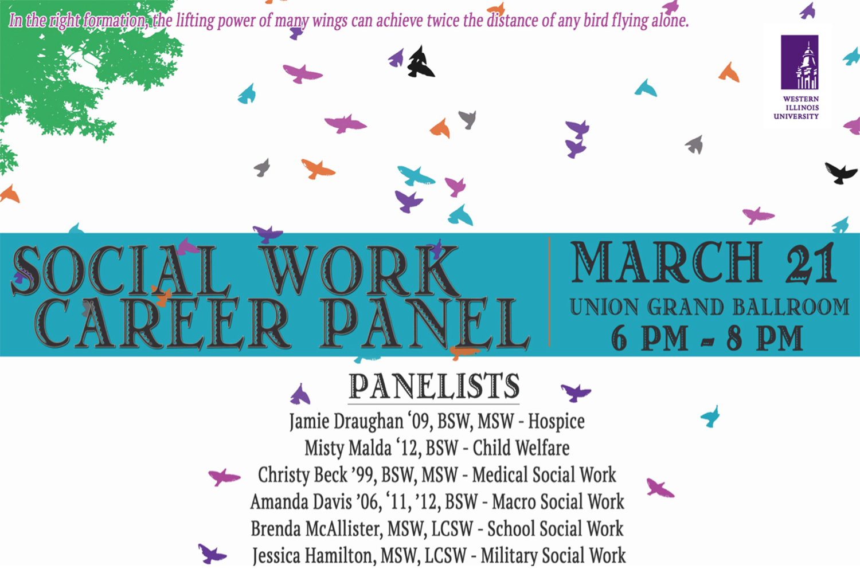 Social Work Career Panel March 21 Western Illinois University News