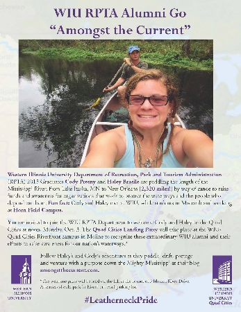 QC Landing Welcome Party Oct. 3 for WIU Alumni Canoeing Length of Mississippi River for Conservation Awareness