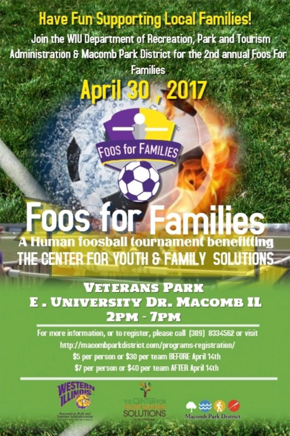 Second Annual Foos For Families Organized By Wiu Students Western