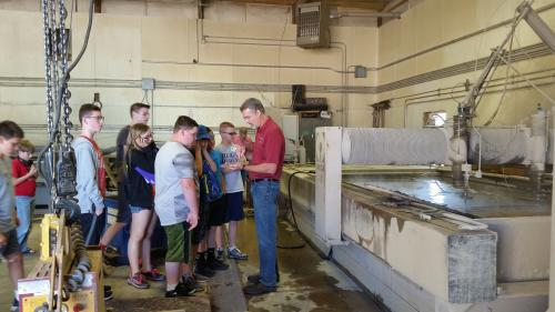 Students from the 2017 TechVenturing Summer Youth Camp gather to learn about engineering technology.