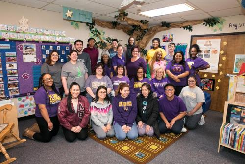 Western Illinois University Infant and Preschool Center staff and student workers