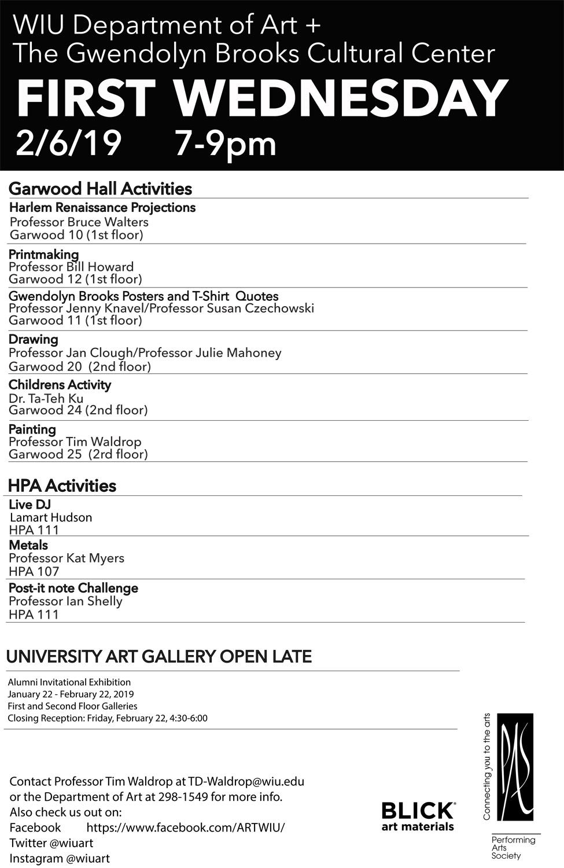 First Wednesday Art Program Feb  6 at WIU - Western Illinois