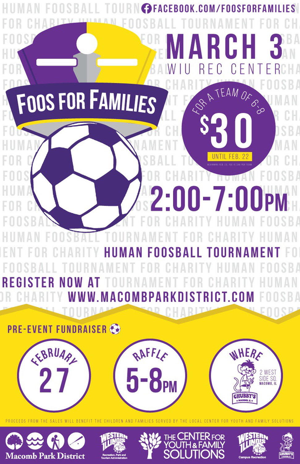 Fourth Annual Foos For Families Tournament To Be Held March 3