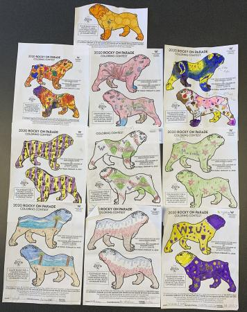 Pictured are the top 10 designs from the children's coloring contest.